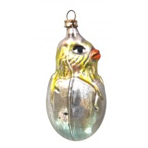 "Chick in Egg Blown Glass Ornament ~ Germany ~ 3"" tall"