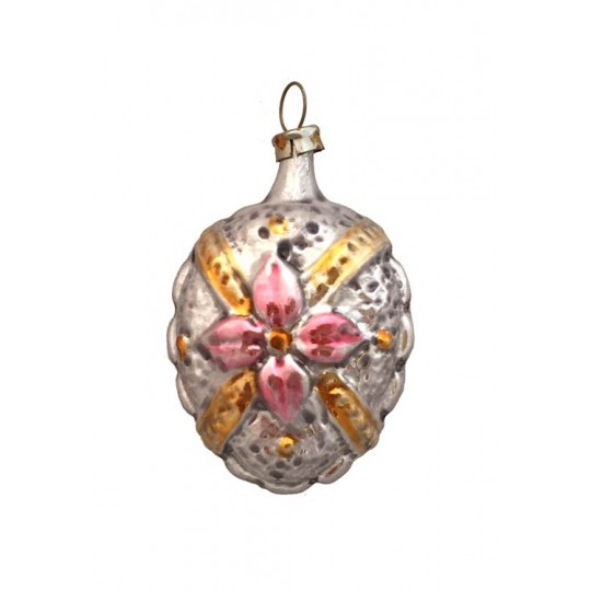 "Fancy Strappy Flower Ornament ~ Germany ~2-1/2"" tall"