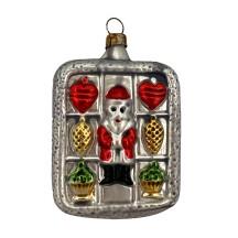 """Santa Lebkuchen Blown Glass Ornament ~ Germany ~ 3-1/4"""" tall"""