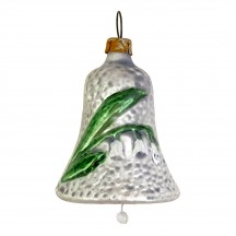 """Lily of the Valley Bell Blown Glass Ornament ~ Germany ~ 2"""" tall"""