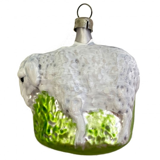 """Easter Lamb Blown Glass Ornament ~ Germany ~ 2-3/4"""" tall"""