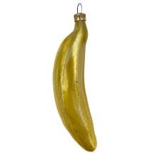 "Large Banana Blown Glass Ornament ~ Germany ~ 5"" tall"
