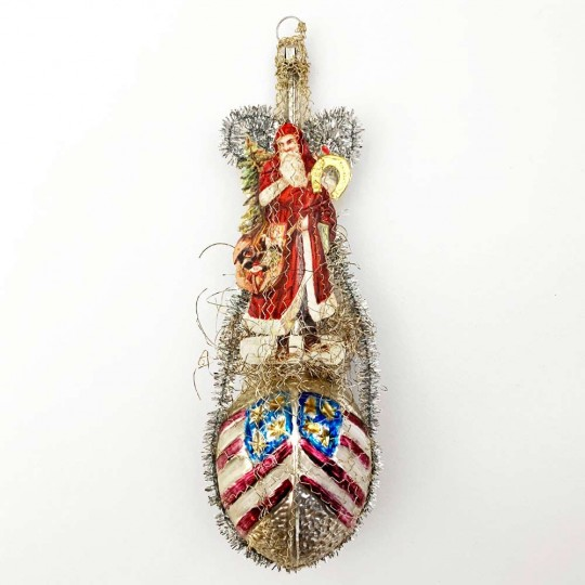 """Victorian Style Patriotic Santa Claus Christmas Ornament ~ Germany ~ 7"""" tall"""