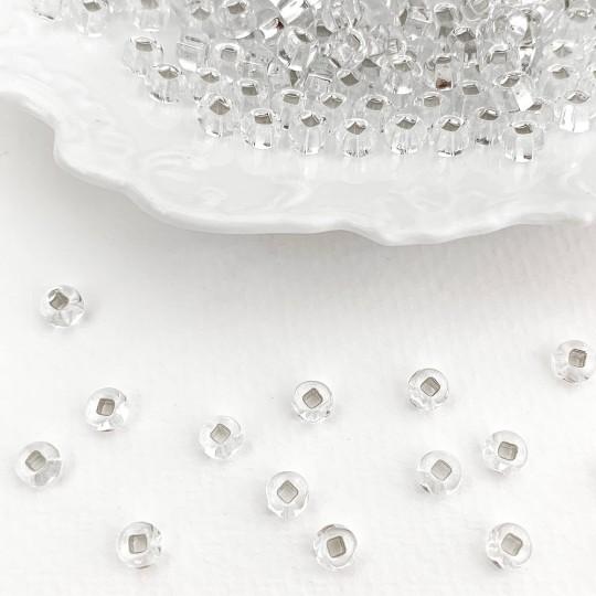 100 Clear Glass Spacer Beads ~ Czech Republic