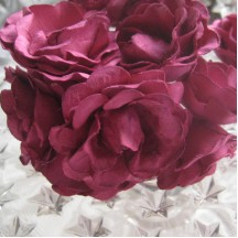 12 Paper Sweetheart Roses in Fuchsia