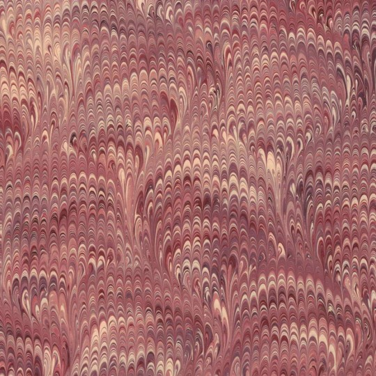 Hand Marbled Paper Bouquet Pattern in Burgundy and Purples ~ Berretti Marbled Arts