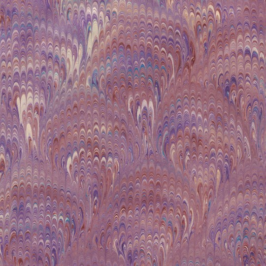 Hand Marbled Paper Bouquet Pattern in Purples ~ Berretti Marbled Arts