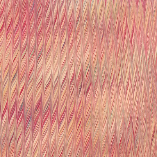 Hand Marbled Paper Twilled Pattern in Reds and Yellows ~ Berretti Marbled Arts