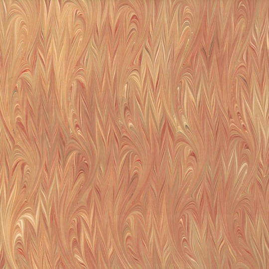 Hand Marbled Paper Flamed Pattern in Yellows ~ Berretti Marbled Arts