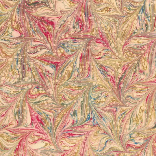 Hand Marbled Paper Star Pattern in Multi-color ~ Berretti Marbled Arts