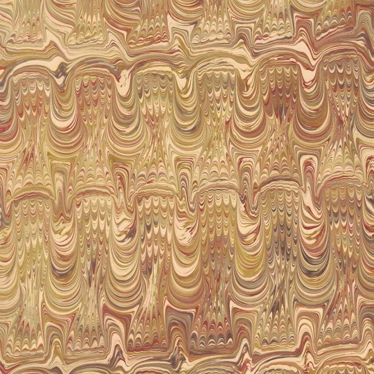 Hand Marbled Paper Soundwave Combed Pattern in Yellows ~ Berretti Marbled Arts