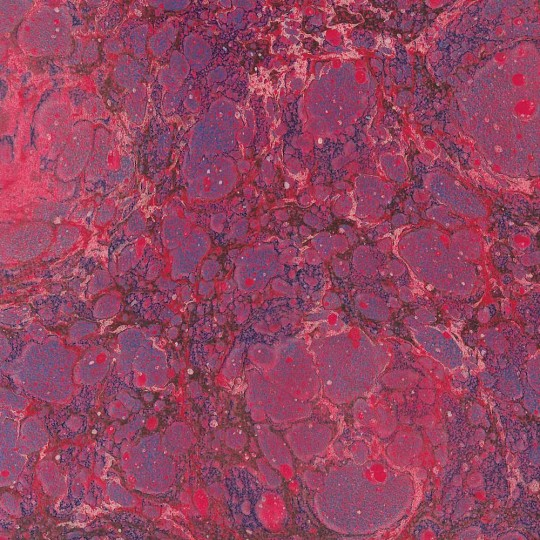 Hand Marbled Paper Speckled Stone Marble Pattern in Red and Magenta ~ Berretti Marbled Arts