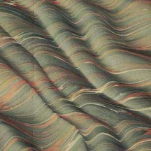 Hand Marbled Paper Moire Pattern in Drab Greens ~ Berretti Marbled Arts