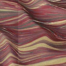 Hand Marbled Paper Moire Pattern in Burgundy ~ Berretti Marbled Arts