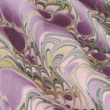Hand Marbled Paper Dragon Skin Pattern in Purple and Ivory ~ Berretti Marbled Arts