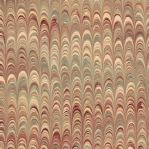 Hand Marbled Paper Combed Pattern in Tans ~ Berretti Marbled Arts