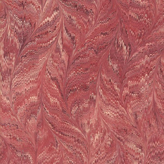 Hand Marbled Paper Butterfly Pattern in Burgundy ~ Berretti Marbled Arts