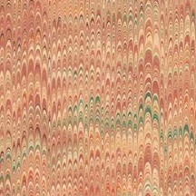 Hand Marbled Paper Petite Combed Pattern in Yellows ~ Berretti Marbled Arts