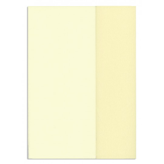 Gloria Doublette Double Sided Crepe Paper from Germany ~ Ivory and Off White
