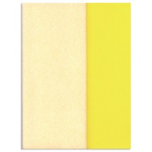 Gloria Doublette Double Sided Crepe Paper from Germany ~ Vanilla and Pale Yellow
