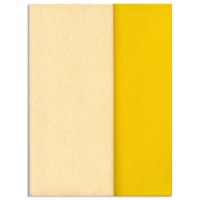Gloria Doublette Double Sided Crepe Paper from Germany ~ Butter and Bright Yellow