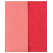 Gloria Doublette Double Sided Crepe Paper from Germany ~ Salmon and Light Pink
