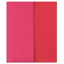 Gloria Doublette Double Sided Crepe Paper from Germany ~ Salmon and Watermelon
