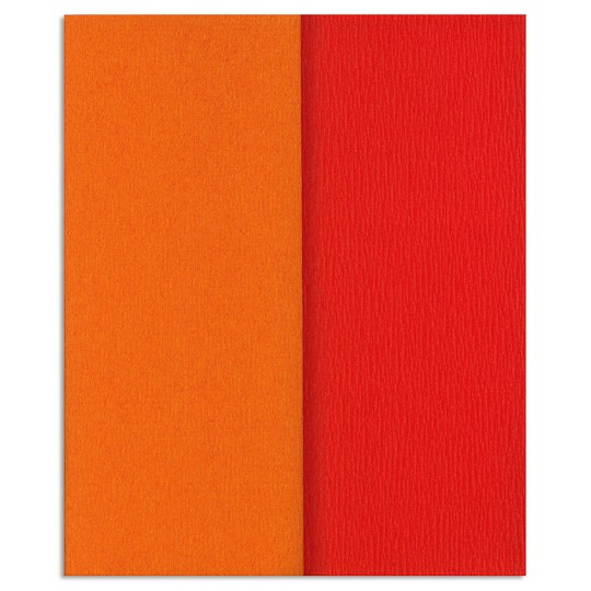 Gloria Doublette Double Sided Crepe Paper from Germany ~ Orange and Tangerine