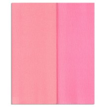 Gloria Doublette Double Sided Crepe Paper from Germany ~ Rose and Pink
