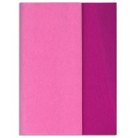 Gloria Doublette Double Sided Crepe Paper from Germany ~ Cerise and Pink