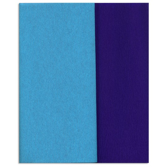 Gloria Doublette Double Sided Crepe Paper from Germany ~ Turquoise and Royal Blue