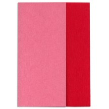Gloria Doublette Double Sided Crepe Paper from Germany ~ Bright Red and Strawberry Pink