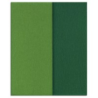 Gloria Doublette Double Sided Crepe Paper from Germany ~ Fern and Grass Green