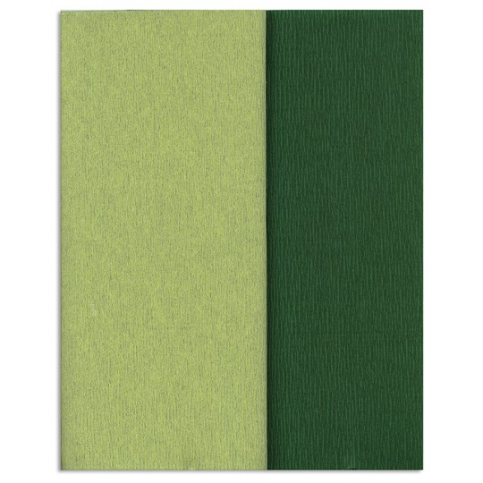 Gloria Doublette Double Sided Crepe Paper from Germany ~ Dark Green and Apple