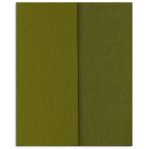 Gloria Doublette Double Sided Crepe Paper from Germany ~ Olive and Moss Green