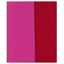 Gloria Doublette Double Sided Crepe Paper from Germany ~ Fuchsia and Dark Red