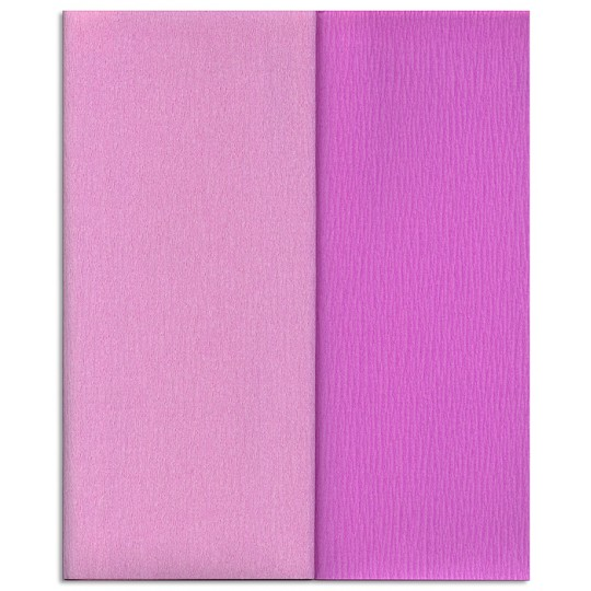 Gloria Doublette Double Sided Crepe Paper from Germany ~ Lilac and Orchid