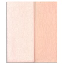 Gloria Doublette Double Sided Crepe Paper from Germany ~ Apricot and Light Apricot