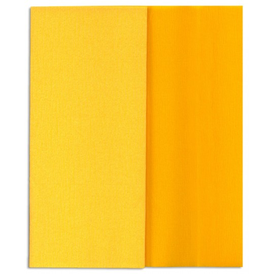 Gloria Doublette Double Sided Crepe Paper from Germany ~ Yellow and Goldenrod