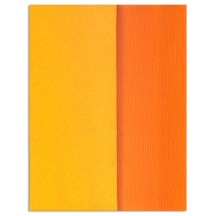 Gloria Doublette Double Sided Crepe Paper from Germany ~ Orange and Goldenrod