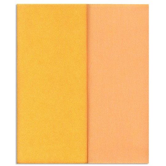 Gloria Doublette Double Sided Crepe Paper from Germany ~ Peach and Yellow