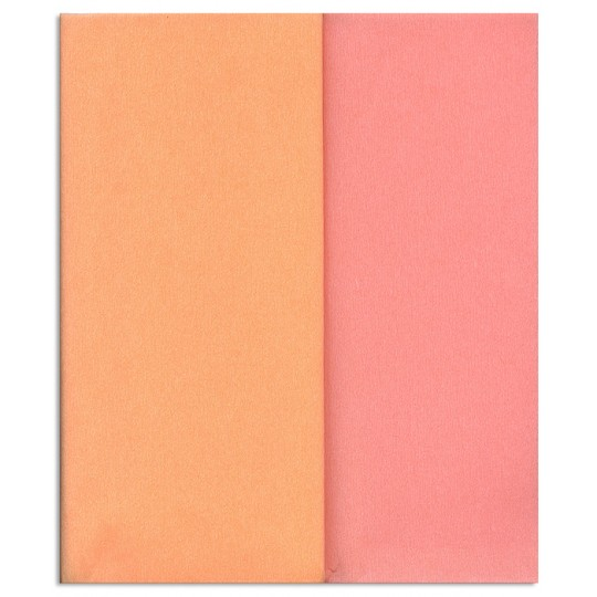 Gloria Doublette Double Sided Crepe Paper from Germany ~ Peach and Light Pink