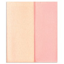 Limited Edition ~ Gloria Doublette Double Sided Crepe Paper from Germany ~ Cream and Pale Pink