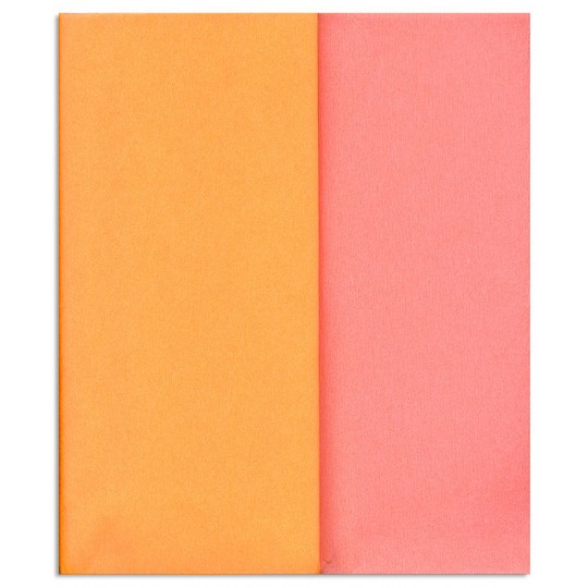 Limited Edition ~ Gloria Doublette Double Sided Crepe Paper from Germany ~ Light Pink and Golden Peach