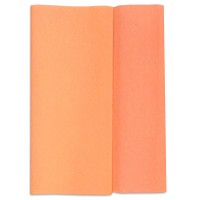 Gloria Doublette Double Sided Crepe Paper from Germany ~ Light Peach and Petal