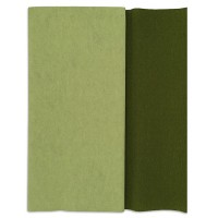 Gloria Doublette Double Sided Crepe Paper from Germany ~ Green Tea and Cypress