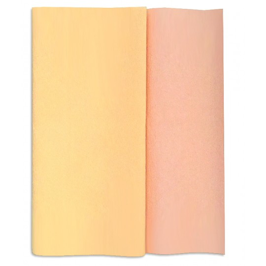 Gloria Doublette Double Sided Crepe Paper from Germany ~ Blush and Shortbread