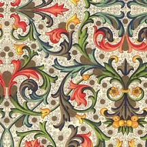 Floral and Vine Tiled Florentine Print Italian Paper ~ Carta Varese Italy