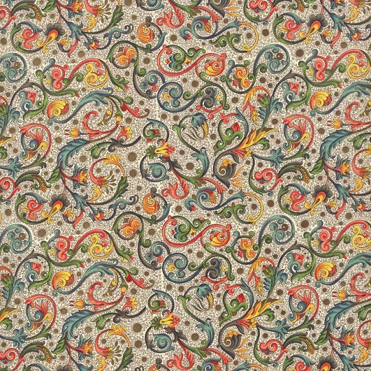 Small Floral and Vine Tiled Florentine Print Italian Paper ~ Carta Varese