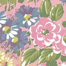 Pink Painted Meadow Flowers Print Italian Paper